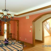 Fine detail painting in dining room by Peachey's Drywall & Painting