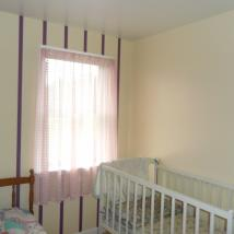 Bedroom wall striping by Peachey's drywall