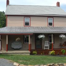 The outside of this house was painted by Peachey's Drywall & Painting