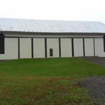 Exterior of the barn painted • Peachey's Drywall and Painting