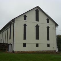 Freshly painted barn by Peachey's Drywall and Painting