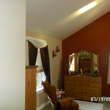 Freshly painted bedroom by Peachey's Drywall and Painting
